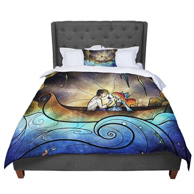 Mandie Manzano Something About Her Mermaid Comforter Size: Queen