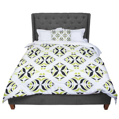 Miranda Mol Lime Rainforest Comforter Size: Queen