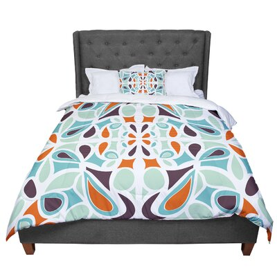 Miranda Mol Purple Stained Glass Comforter Size: Queen