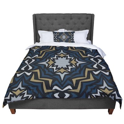 Miranda Mol Winter Fractals Comforter Size: King