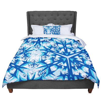 Miranda Mol Winter Mountains Comforter Size: Queen