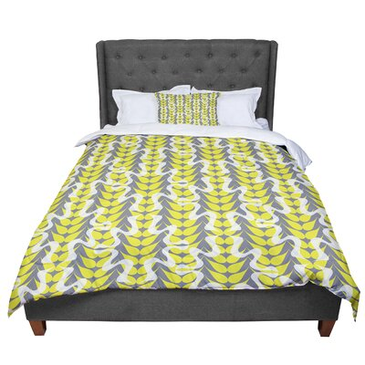 Miranda Mol Whirling Leaves Comforter Size: Twin