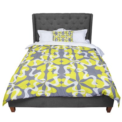Miranda Mol Flowering Hearts Comforter Size: Queen