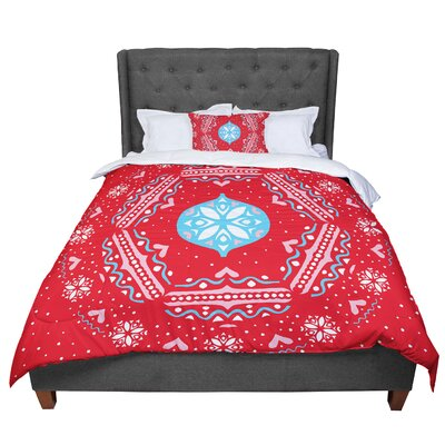 Miranda Mol Snowjoy Comforter Size: Twin, Color: Red/Blue