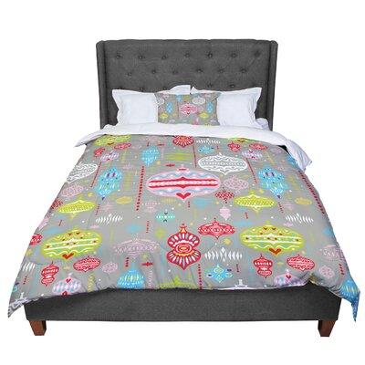 Miranda Mol Ornate Ornaments Comforter Size: Twin, Color: Silver
