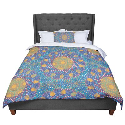 Miranda Mol Prismatic Abstract Comforter Size: King, Color: Orange/Blue