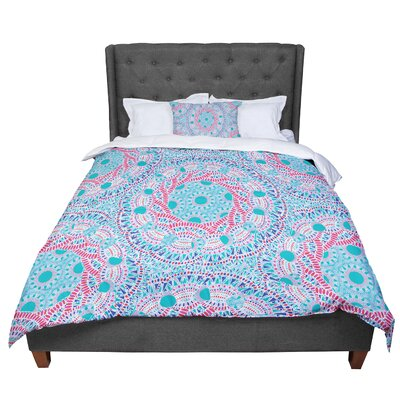 Miranda Mol Prismatic Abstract Comforter Size: Twin, Color: Blue/Pink