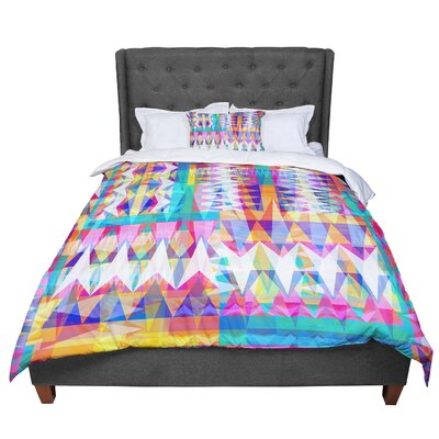 Miranda Mol Triangle Collage Pastel Geometric Comforter Size: Queen