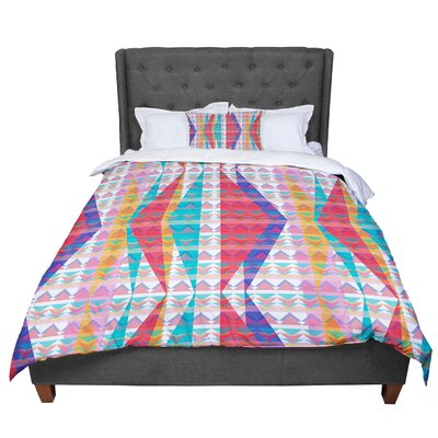 Miranda Mol Triangle Illusion Geometric Comforter Size: Queen