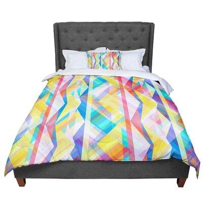 Miranda Mol Triangle Rhythm Pastel Geometric Comforter Size: Queen