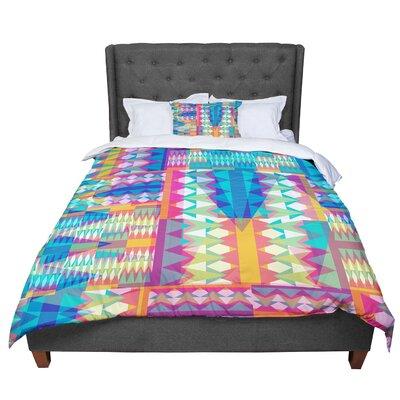 Miranda Mol Triangle Quilt Geometric Comforter Size: King
