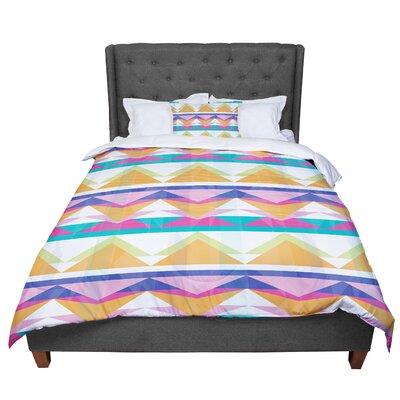 Miranda Mol Triangle Waves Geometric Pattern Comforter Size: King