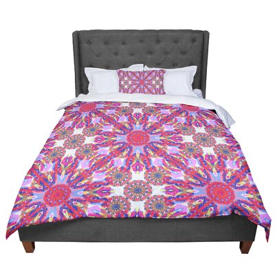 Miranda Mol Kaleidoscopic Floral Purple Comforter Size: King