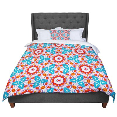 Miranda Mol Kaleidoscopic Circles Pattern Comforter Size: Queen