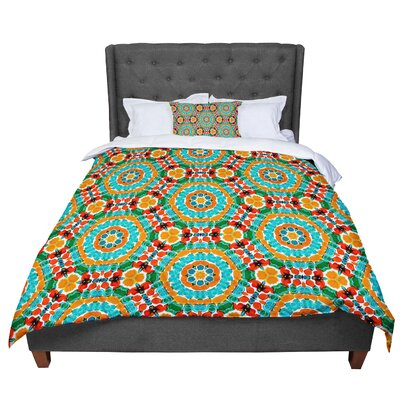 Miranda Mol Hexagon Tiles Pattern Comforter Size: Queen