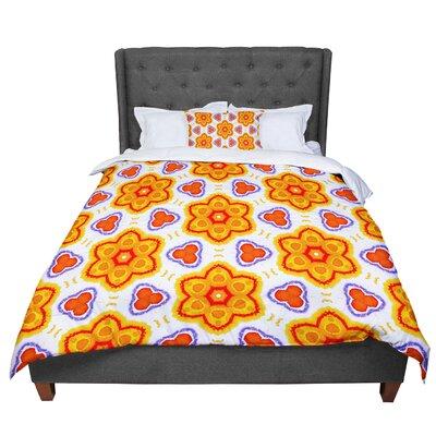 Miranda Mol Kaleidoscopic Flowers Floral Comforter Size: Queen