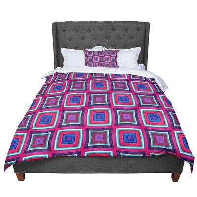 Miranda Mol Watercolor Blocks Checker Comforter Size: Twin