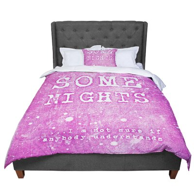 Monika Strigel Some Nights Comforter Size: Twin