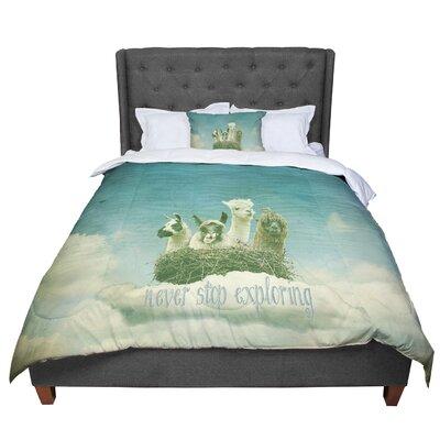 Monika Strigel Never Stop Exploring Comforter Size: Queen