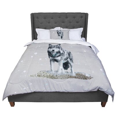 Monika Strigel Wolf Comforter Size: Twin
