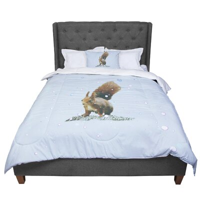 Monika Strigel Squirrel Comforter Size: Queen