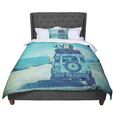 Monika Strigel Never Stop Exploring III Comforter Size: Queen