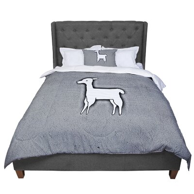 Monika Strigel Llama One Comforter Size: Twin