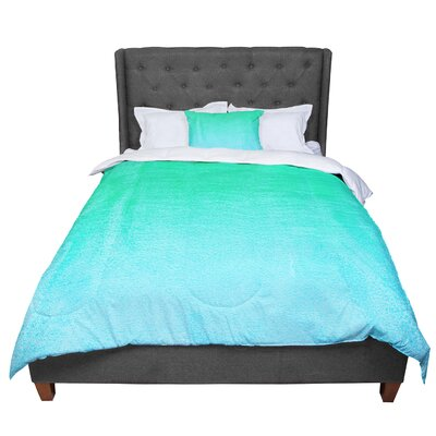 Monika Strigel Fruit Punch Magenta Comforter Size: Queen, Color: Aqua