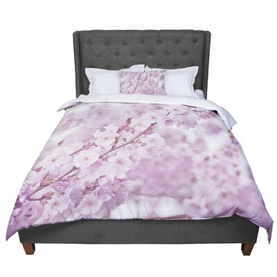Monika Strigel Endless Cherry Floral Comforter Size: King