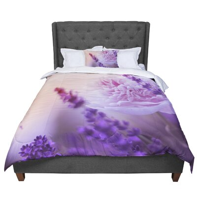 Monika Strigel Peony and Lavender Comforter Size: Queen
