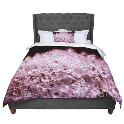 Monika Strigel Dandelion Diamonds Comforter Size: King, Color: Marsala