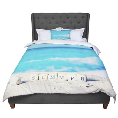 Monika Strigel Summer at the Beach Coastal Comforter Size: Queen