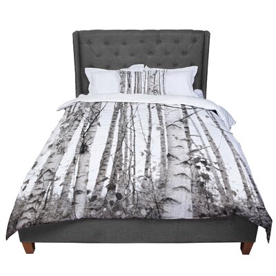 Monika Strigel Birchwood Forest Comforter Size: Queen