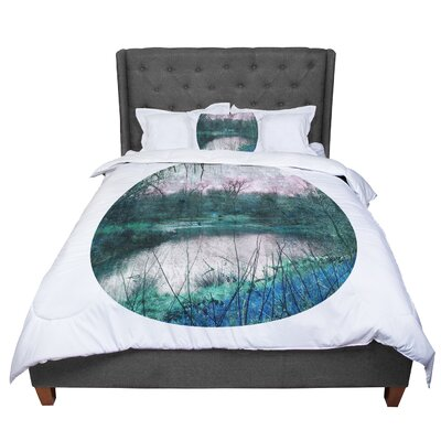 Micah Sager Swamp Lake Circle Comforter Size: King
