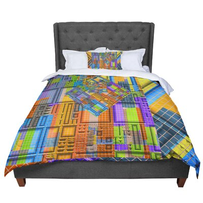 Michael Sussna Tile Rep Abstract Comforter Size: King