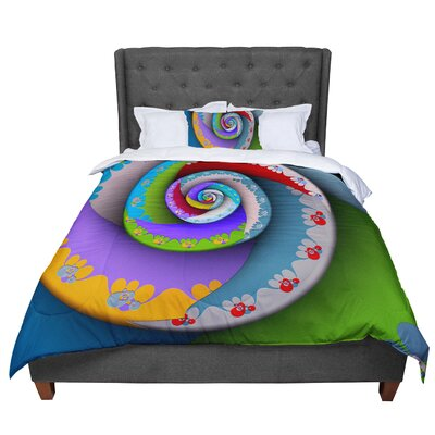 Michael Sussna Flor Essence Comforter Size: Twin