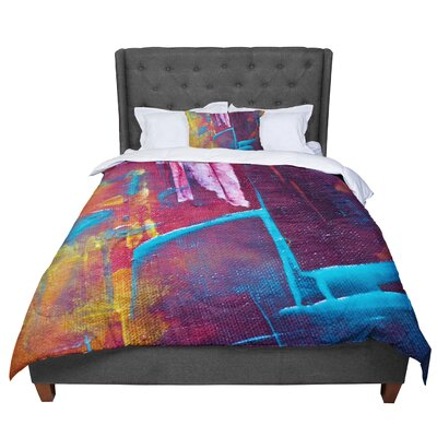 Malia Shields Cityscape Abstracts II Painting Comforter Size: Queen