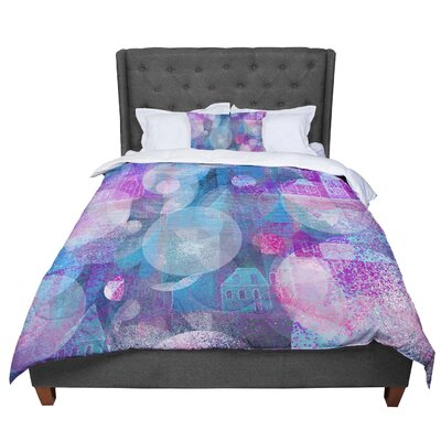 Marianna Tankelevich Dream Place Comforter Size: Queen, Color: Blue/Purple