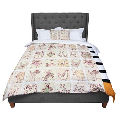 Marianna Tankelevich Birdies Comforter Size: King