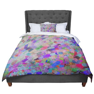 Marianna Tankelevich Abstract Rainbow Comforter Size: King