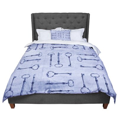 Marianna Tankelevich Secret Keys Comforter Size: Twin, Color: Blue