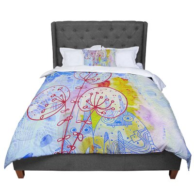 Marianna Tankelevich Composition with Bunnies Abstract Rabbits Comforter Size: Queen