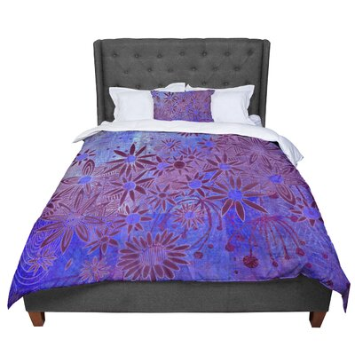 Marianna Tankelevich Flowers Comforter Size: King, Color: Purple/Blue