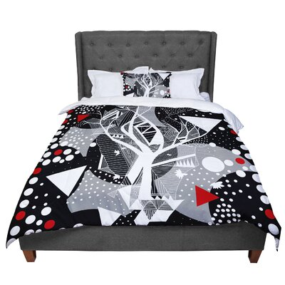 Marianna Tankelevich Dancing Shapes Comforter Size: King, Color: Black/Gray