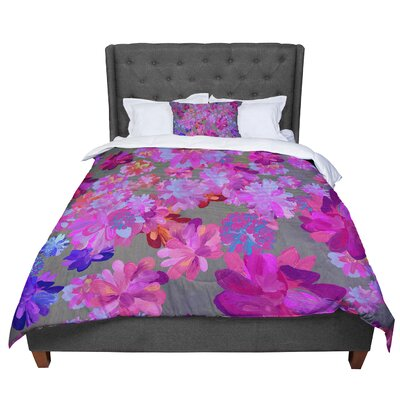 Marianna Tankelevich Flowers Comforter Size: King