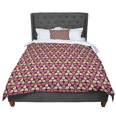 Nick Atkinson Infinite Flowers Comforter Size: Queen, Color: Red
