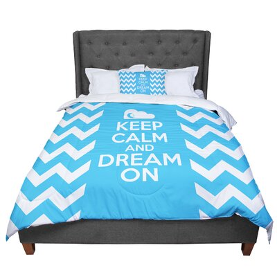 Nick Atkinson Keep Calm Comforter Size: Queen