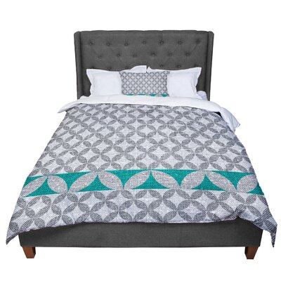 Nick Atkinson Diamond Comforter Size: King, Color: Turquoise