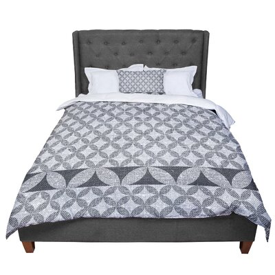 Nick Atkinson Diamond Comforter Size: Queen, Color: Black