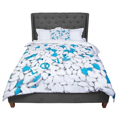 Nick Atkinson Hearts Love Comforter Size: Twin